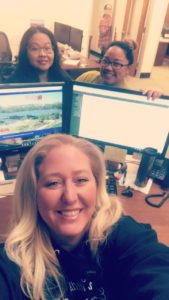 Payroll and Admin. Front. Sara Middle. Sanying, Elaine Back. Susan
