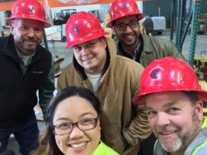 Purchasing Warehouse Front. Elaine, Scott Back. Jaime, Richard, Rick