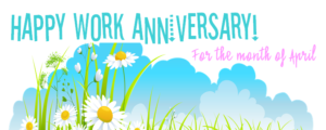 Work Anniversary Logo April