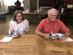 Gene and Dianne Gini at our Ice Cream Social