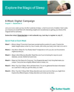 Sleep Digital Campaign