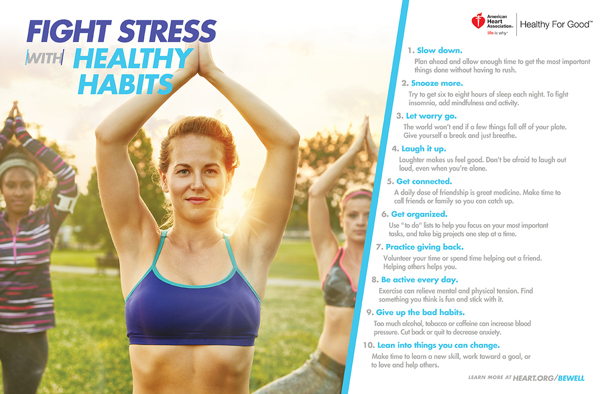 fight stress with healthy habits